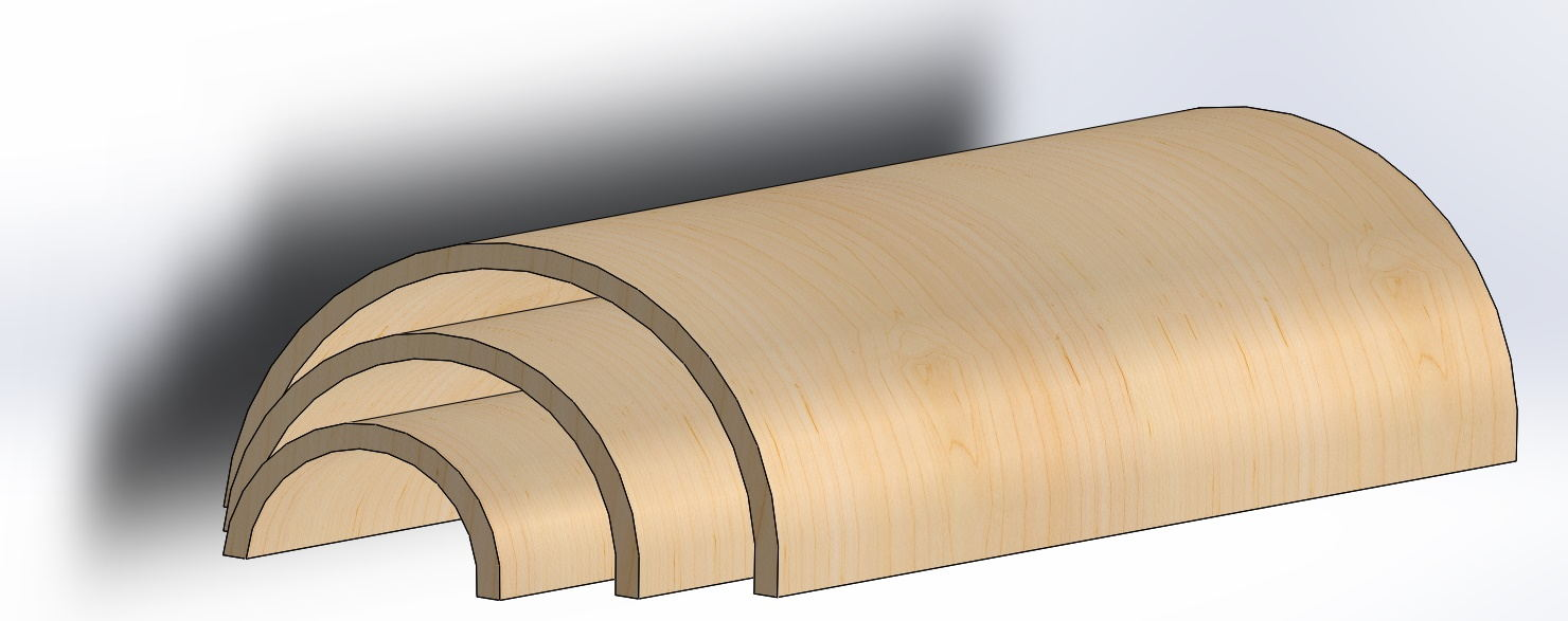 half round plywood