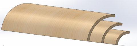 1/4 round plywood